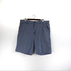 T432 Nautical Clipper Blue Plaid Shorts Size 40